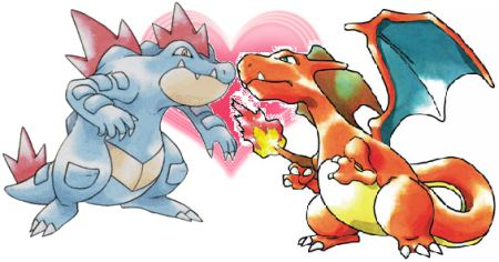 Totodile and Charmander